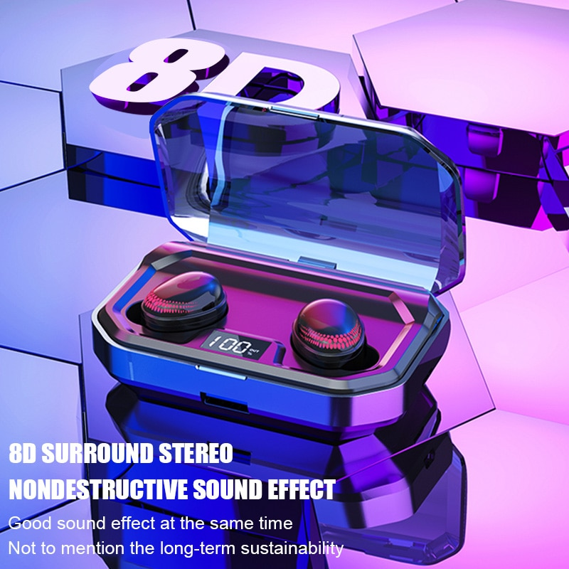X10Wireless Earphones Bluetooth 5.0 LED Display Bluetooth Headphones 8D Stereo Headset With 3000mAh Charging Case tws enlarge