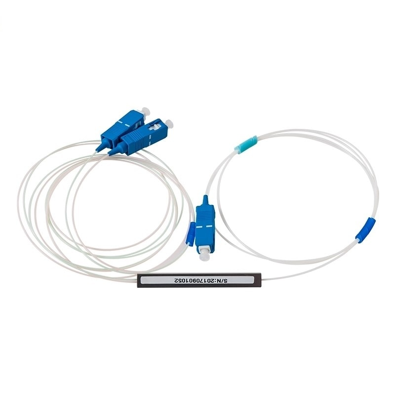 5 uds 1x2 PLC Splitter UPC SC tipo Micro fibra óptica Mini módulo 900um Ftth divisor UPC SC divisor 1X2 de fibra de Opitc divisor