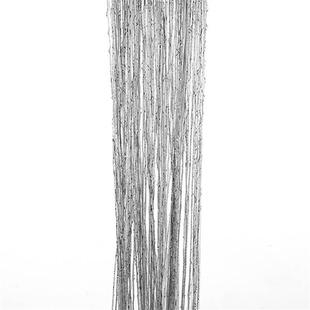 Línea de borla brillante de 200cm * 100cm, cortina para ventana o puerta, sala de estar, divisor de puerta del Hotel, decoración de ventana