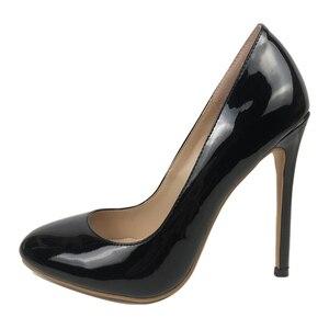 Women's Round Toe 120mm Sky High Heel Pumps Ladies Stiletto Evening Dress Shoes Women Shoes  Ladies Shoes  Black Heels