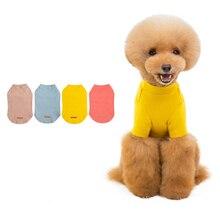 Printemps et été nouveau T-shirt pour animaux de compagnie multicolore coton chemise de fond chien Service à domicile Teddy chien pyjamas chien T-shirt