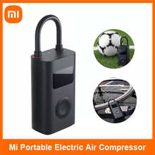 Портативный воздушный насос Xiaomi Mi, электрический насос с цифровым компрессором, датчик давления в шинах для велосипедов, мотоциклов, автомо...