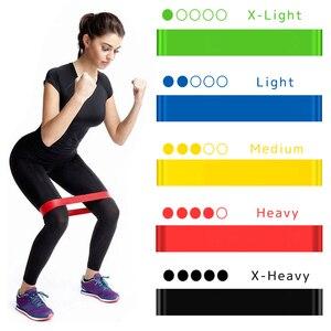 Yoga Resistance Rubber Bands Fitness Elastic Bands 0.3mm-1.1mm Training Fitness Gum Pilates Sport Crossfit Workout Equipment