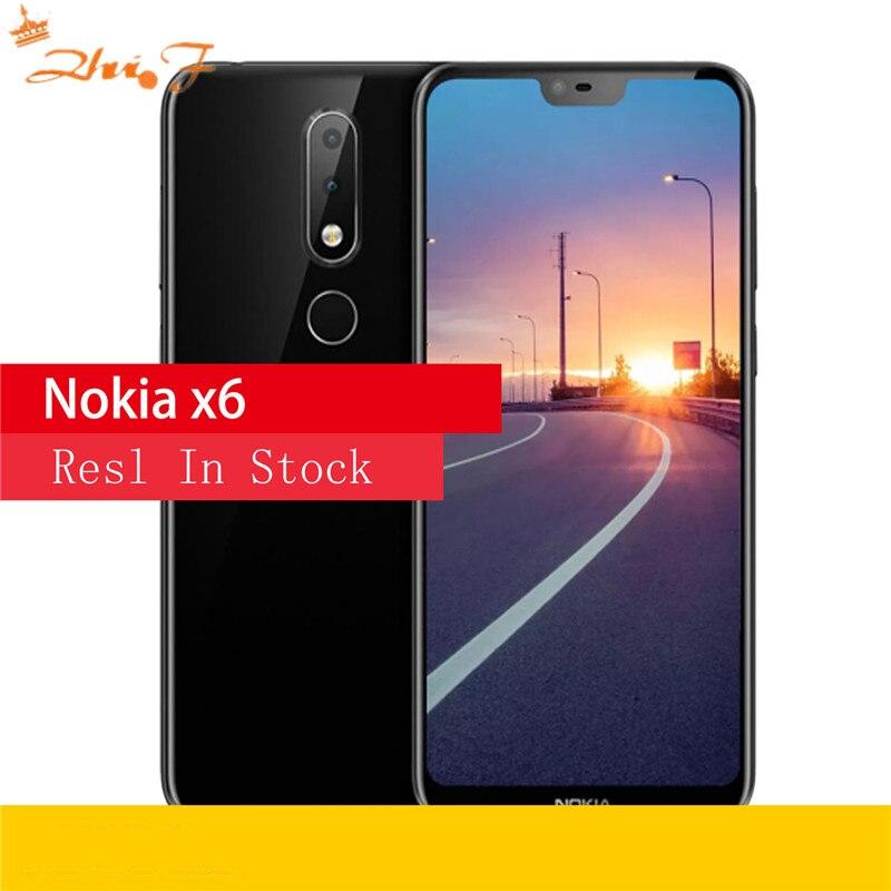 Nokia X6 2018 64G ROM 4G RAM 3060mAh 16.0MP 3 Camera Dual Sim Android LTE Fingerprint 5.8 inch Octa