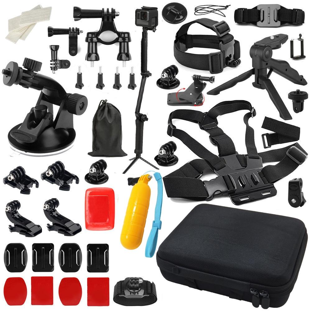 مجموعة ملحقات كاميرا الحركة لـ GoPro Hero 7 6 5 4 Black Xiaomi Yi 4K Lite 2 SJCAM SJ7 Eken H9 Go Pro Mount لمجموعة Sony Nikon