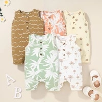 2021 infant clothes summer newborn baby rompers print clothing costumes kids jumpsuit new born boys clothes