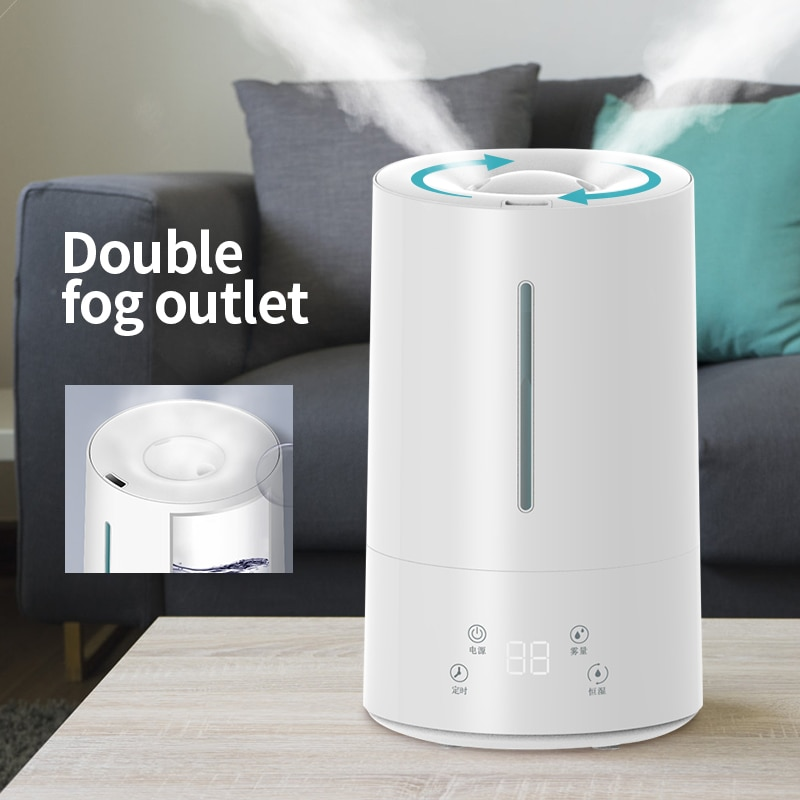 KBAYBO 4.2L Air Humidifier Essential Oil Aroma Diffuser Air Purifying Timing  Intelligent Touch Screen Adjustable Fog Quantity