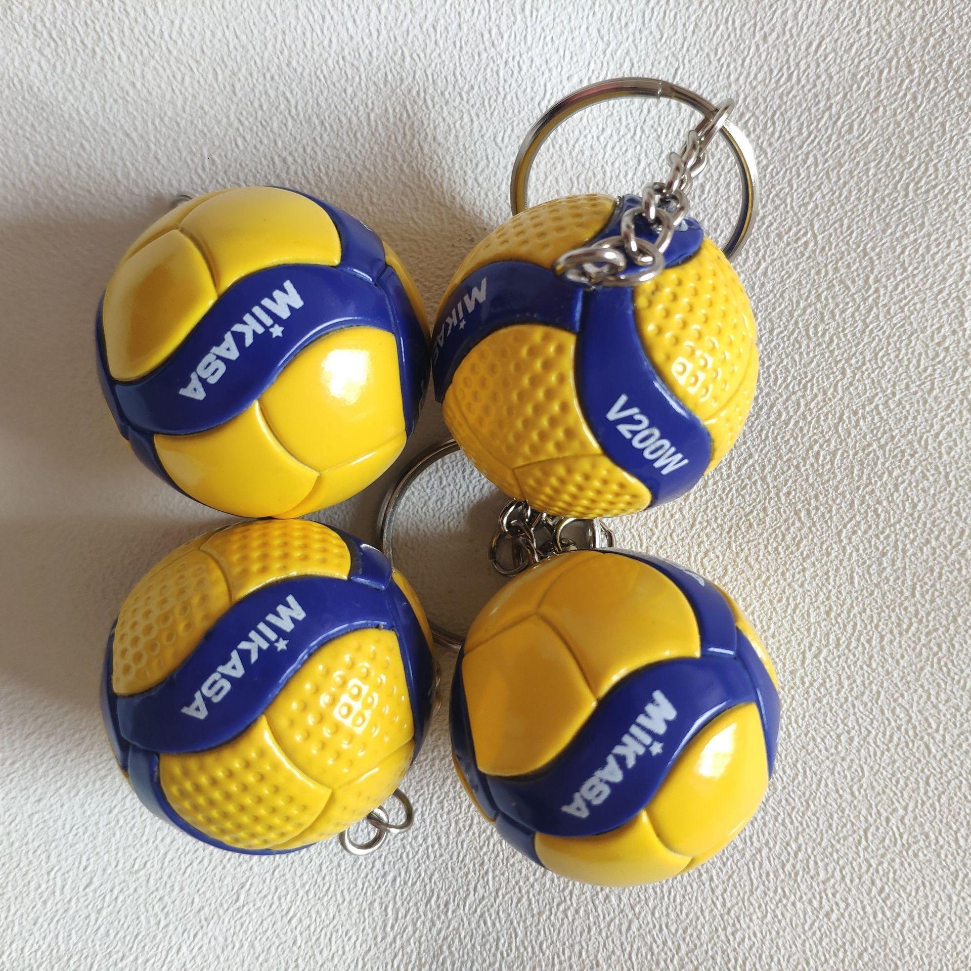 V200w Mini PVC Volleyball Schlüsselbund Sport Schlüssel Kette Geschenk Auto Ball Schlüssel Halter Ring Für Spieler Männer Frauen Keyring Geburtstag geschenk