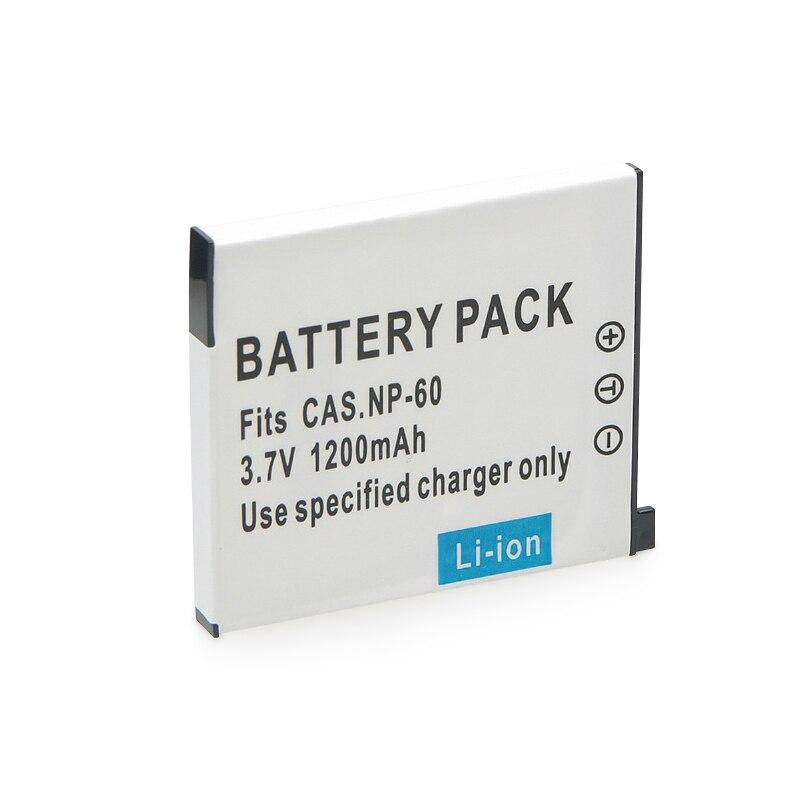 Batería de cámara NP-60 CNP-60 NP 60, CNP60, NP60, de 3,7 V, 1200mAh para CASIO NP-60, CNP-60, S10, Z9, FS10, S12, Z20, Z29, Z85, EX-Z80, R4 1 unidad
