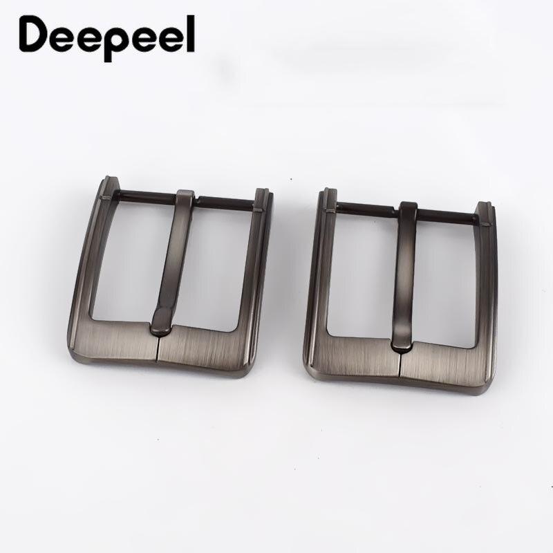 Deepeel 2pcs 40mm Brush Matte Belt Buckles Metal Pin Buckle for 38-39mm Belts Replacement Waistband Head Apparel Accessories