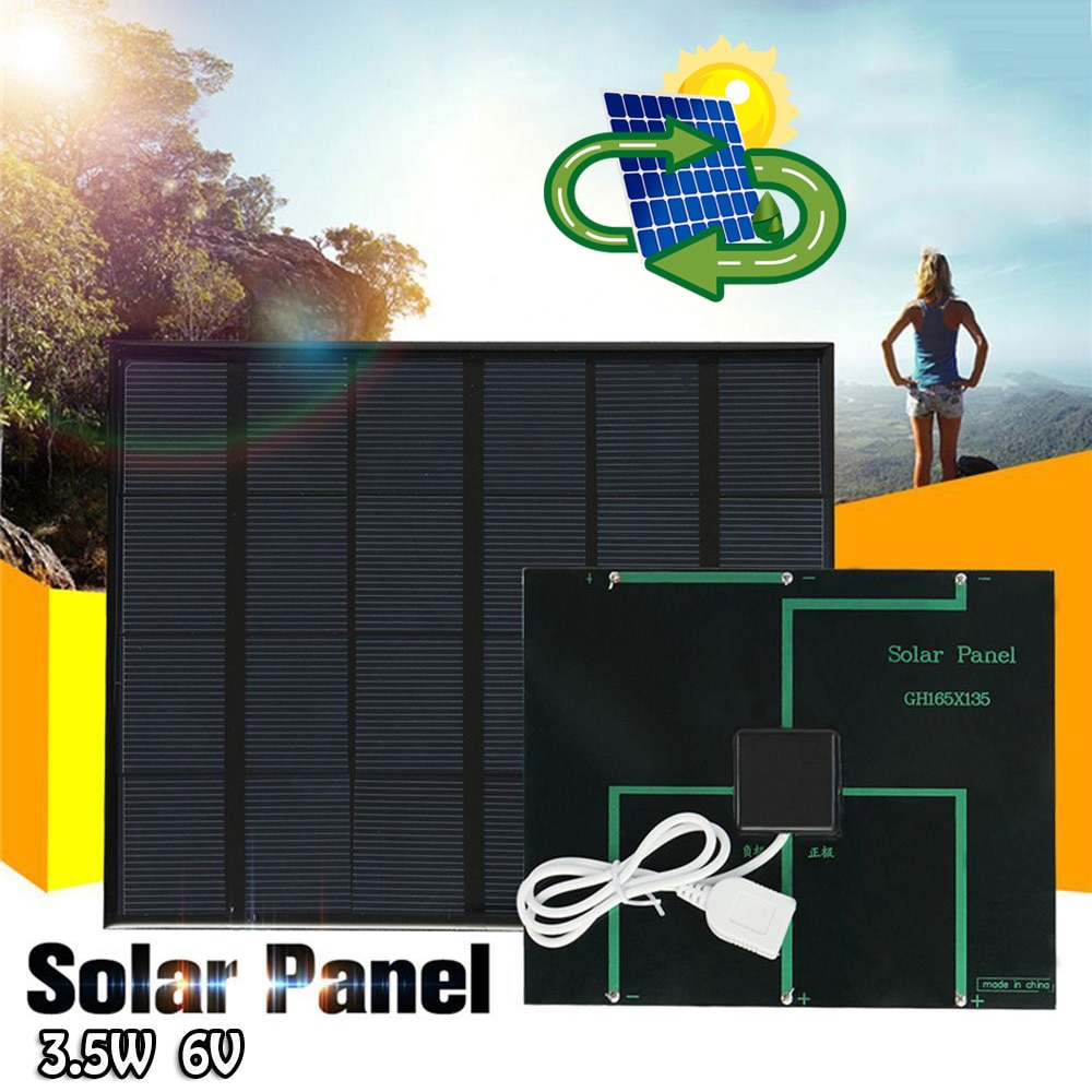 Cargador de sistema de Panel Solar, 3,5 W, 6V, nuevo, para banco de energía para teléfono móvil, Camping NE