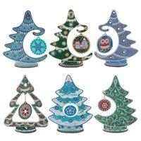 diy diamond painting christmas tree with pendant diamond embroidery kit special shaped drill acrylic ornaments xmas home decor