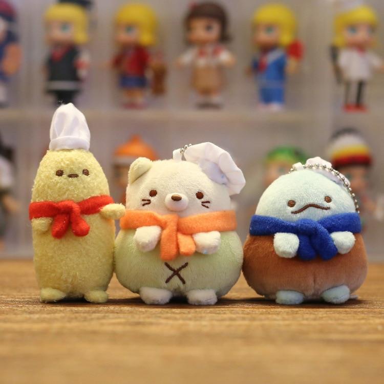 Kawaii Anime esquina juguete biológico de peluche Sumikko Gurashi san-x colgante biológico de dibujos animados para regalo de chico