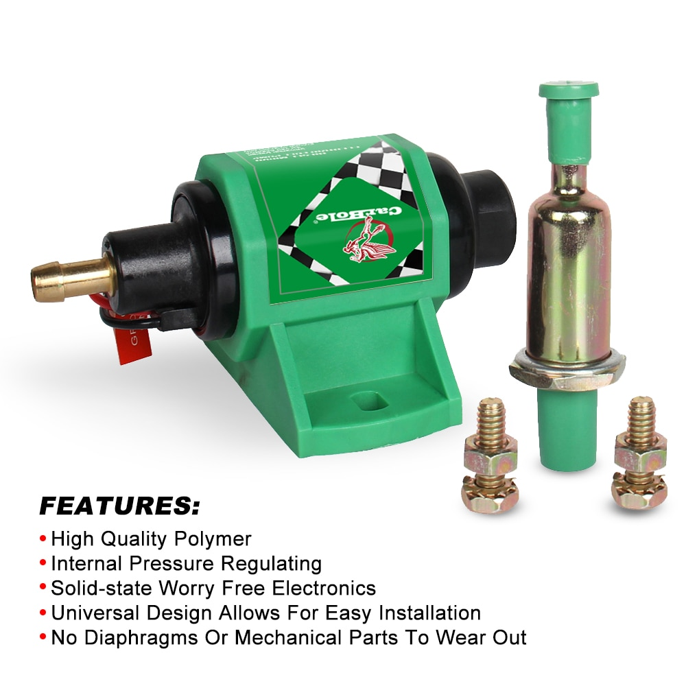 Carbole 4-7 psi micro bomba de combustível diesel elétrica de alto desempenho 12 volts 5/16 polegadas-2 fio design