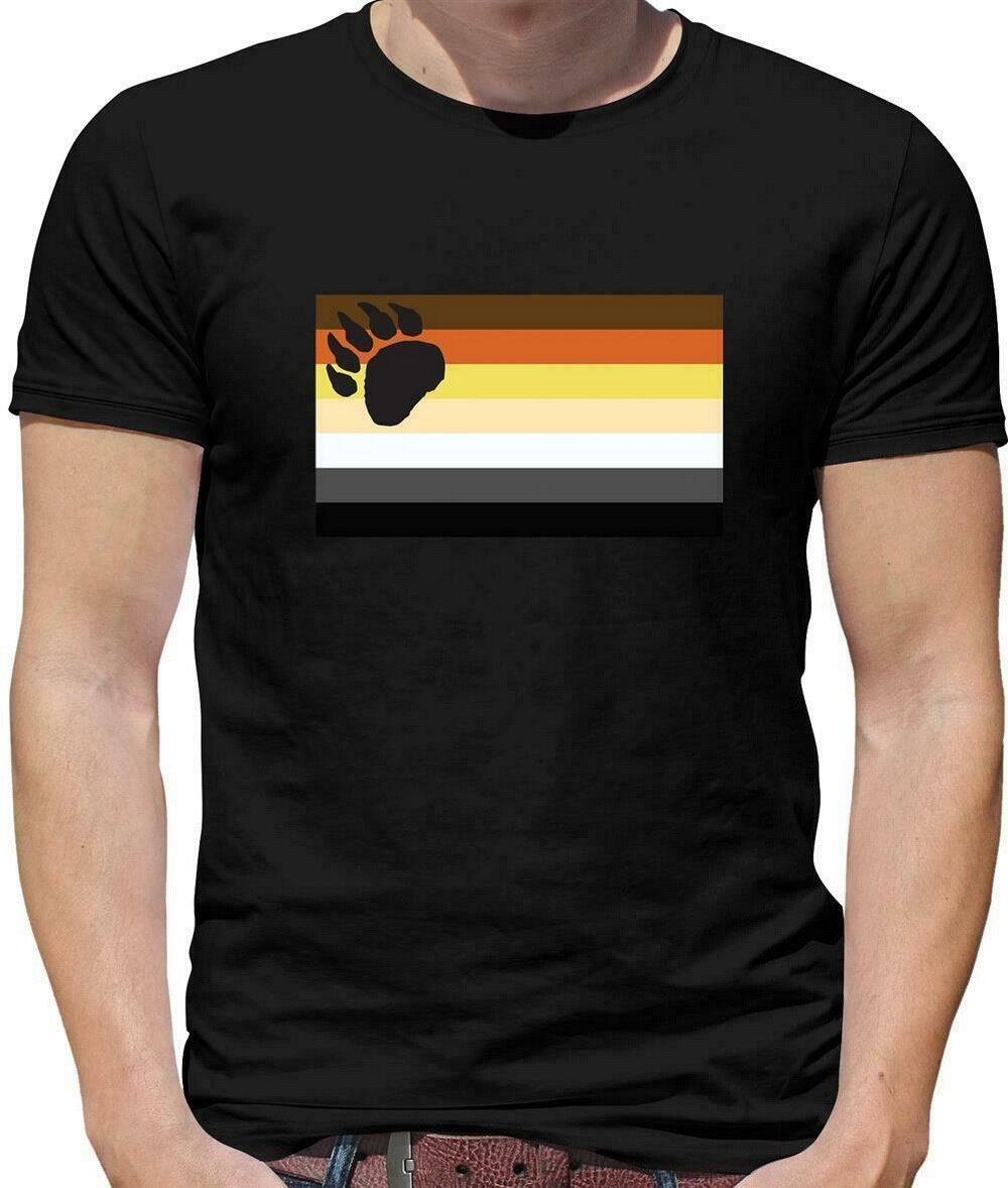 Lgbt banderas Brother Bear hombres Tops camiseta Orgullo Gay Bi lesbiana Trans sexo camiseta envío gratis