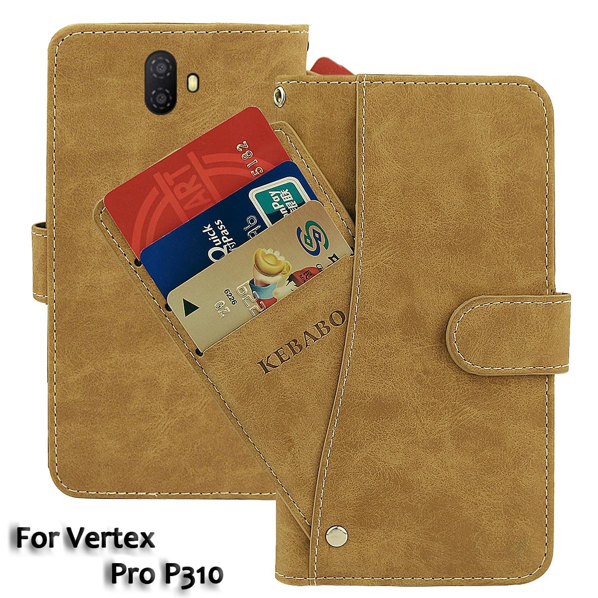 Vintage Leather Wallet Vertex Pro P310 Case 6.53