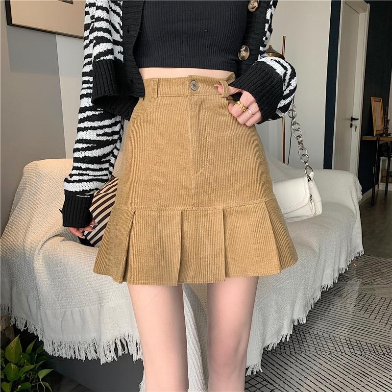 Women Skirt Autumn Korean 2021 New Fashion Chic French High Waist, Slim, Versatile Skirt, Children's