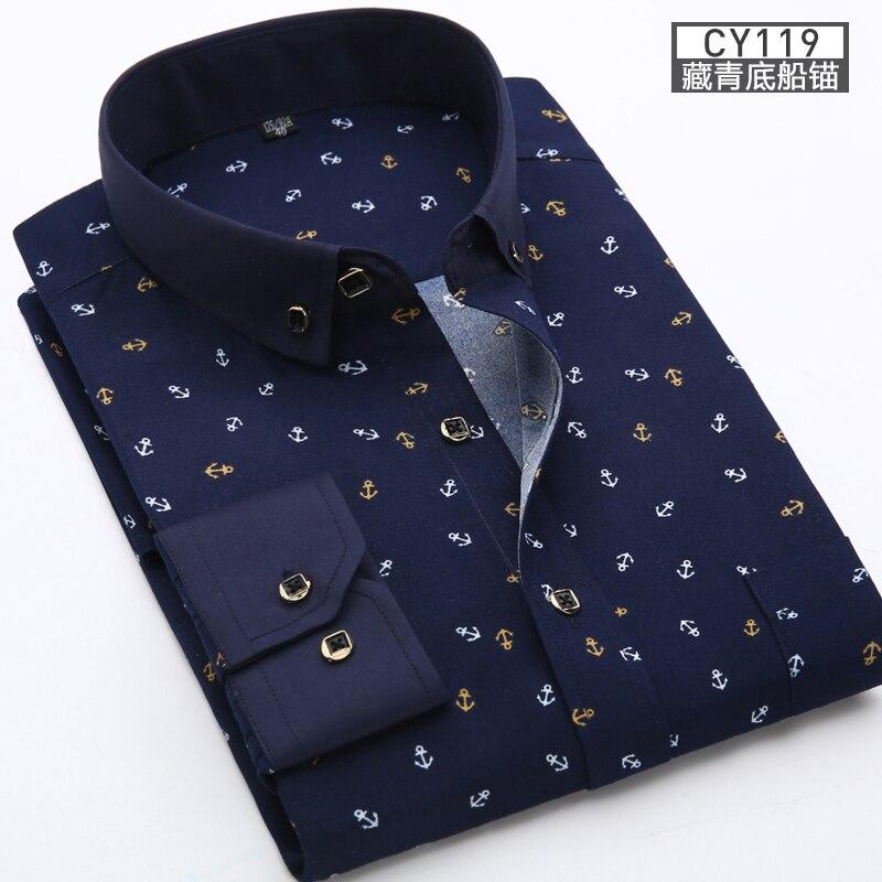 2020 masculino fino ajuste roupas masculinas de manga longa camisa floral dos homens topos casuais tamanhos grandes