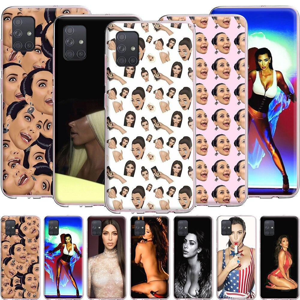 Funda de silicona Kim Kardashian para Samsung Galaxy S20 Ultra S10 S10E S9 S8 S7 Note 10 9 8 Plus Edge