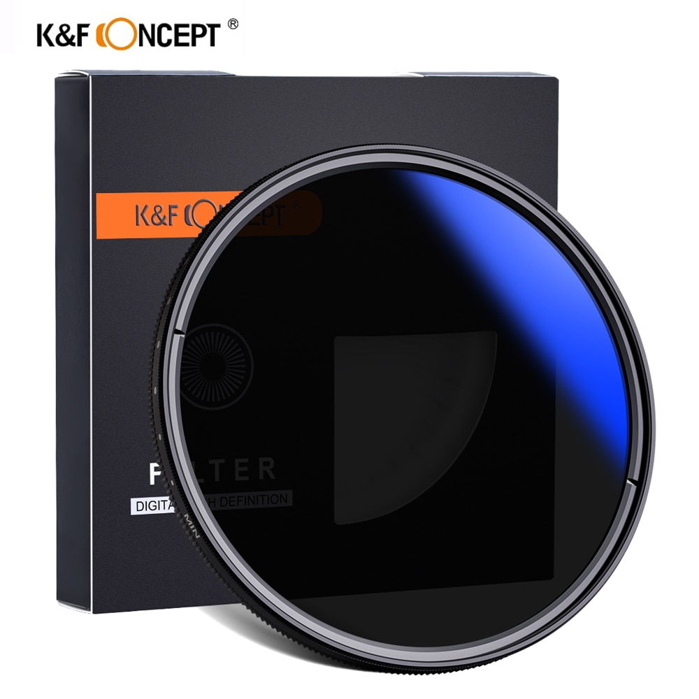 K & F مفهوم ND2-ND400 متغير ND تصفية 37-82 مللي متر متعددة المغلفة قابل للتعديل ترويسة ل DSLR كاميرا محايد الكثافة تصفية عدسة