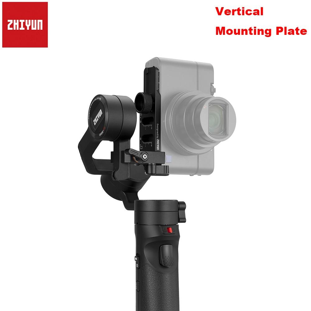 Placa de montaje Vertical Zhiyun para grúa Zhiyun M2, estabilizador de cardán de mano de 3 ejes