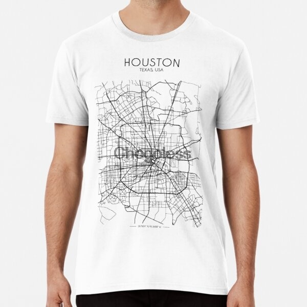 Camiseta masculina t shirt houston street mapa