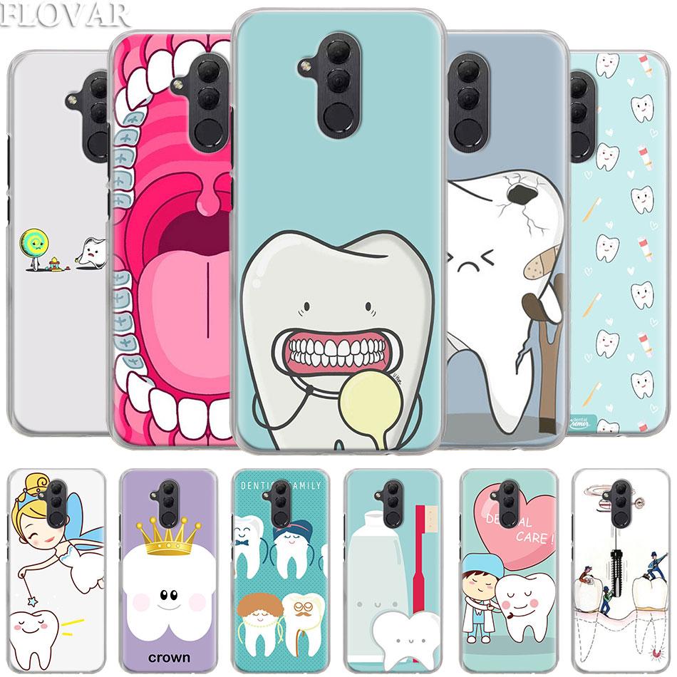 Инструменты стоматолога зуб чехол для телефона huawei mate 20 Lite mate 10 20 P30 Pro P Smart Plus P10 P20 P30 Lite hoing coque