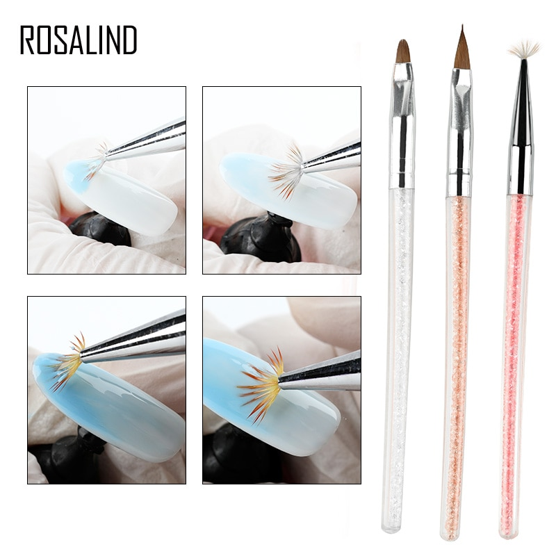 ROSALIND Nail Brushes for Manicure Design Tool Set Professional UV Gel Acrylic Brushes Pen Nail Art Brush For Nails DIY Painting