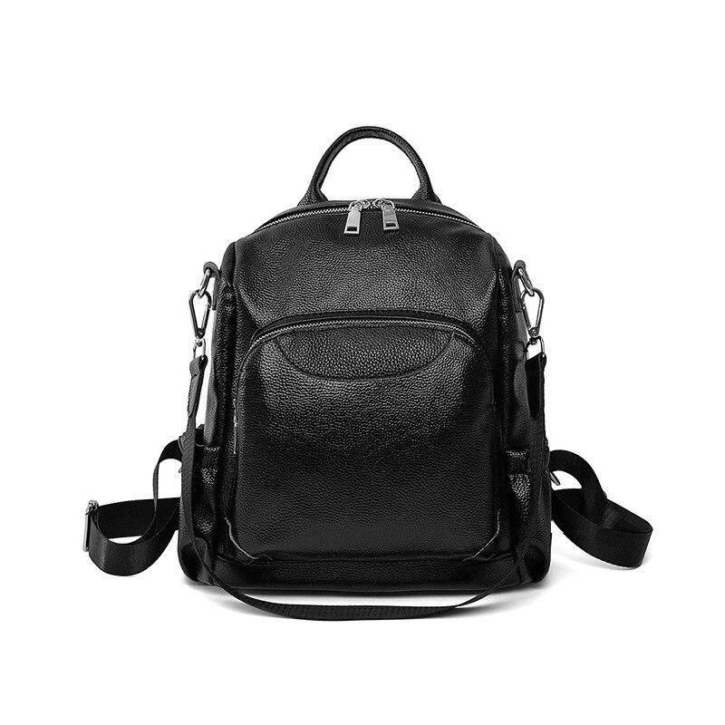 حقيبة ظهر من جلد البقر الأصلي للنساء ، حقيبة ظهر فاخرة وناعمة ، حقيبة سفر ، C1438