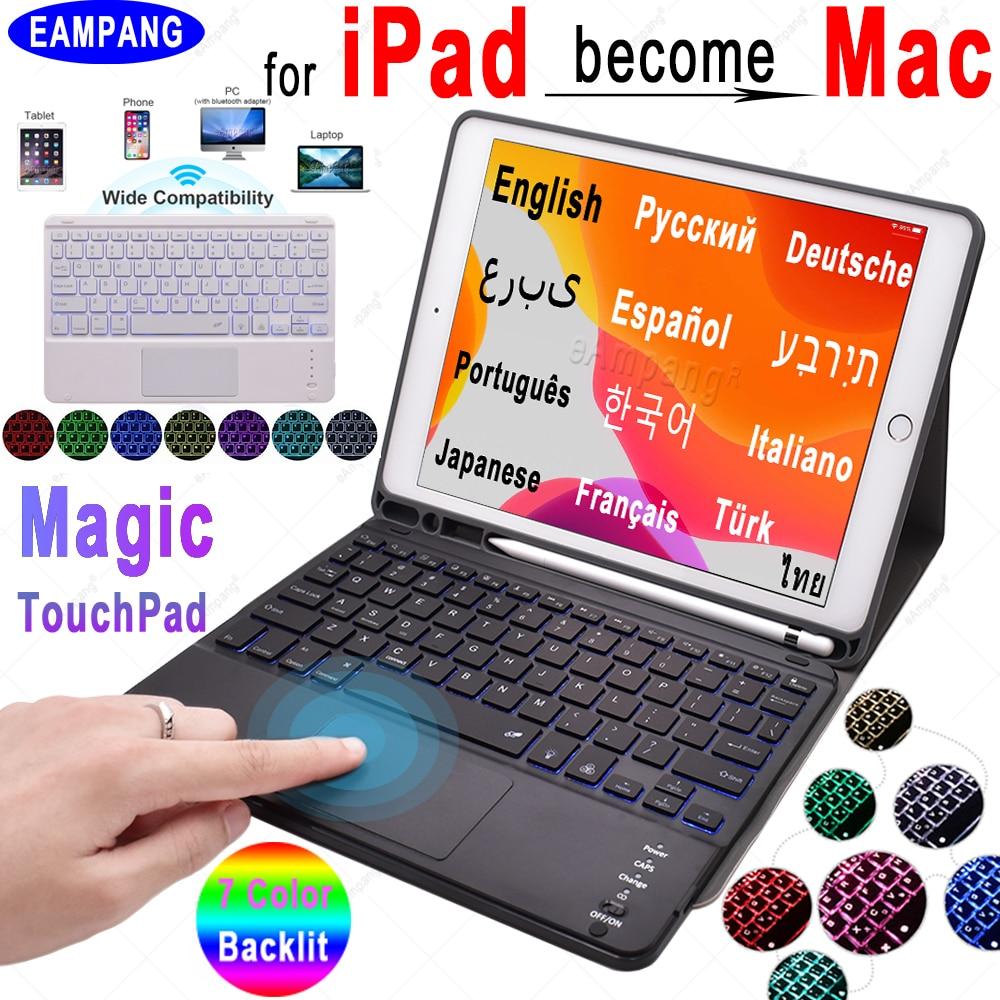 Magic TouchPad Keyboard for Apple iPad 10.2 2019 iPad 9.7 2017 2018 Air 2 3 4 Pro 9.7 10.5 11 2018 2020 TrackPad Keyboard Case