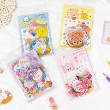 40Pcs/pack Cute Cartoon Stickers Journal Stationery Flakes Scrapbooking DIY Decorative Stickers
