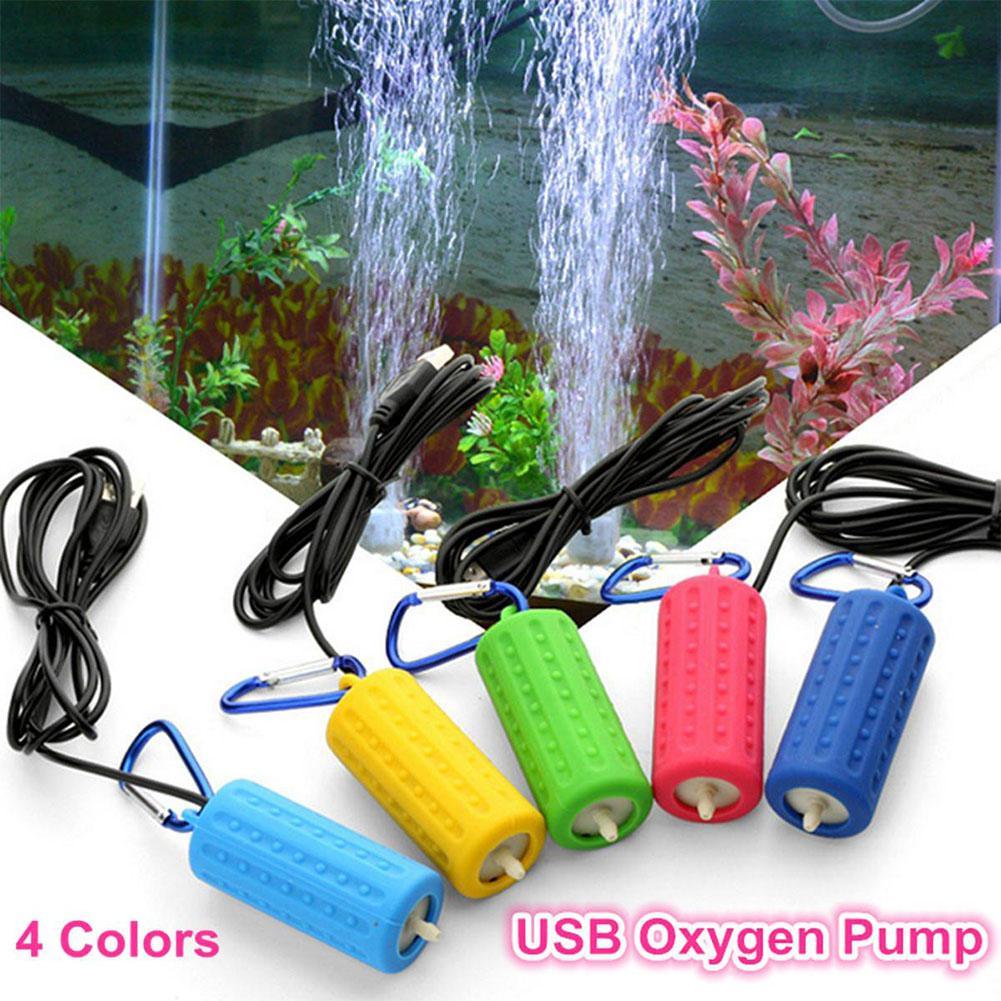 Acuario con Mini USB, tanque de peces, Bomba de aire, de oxígeno silencioso, suministros de ahorro de energía, terrario acuático, Accesorios para tanque de peces