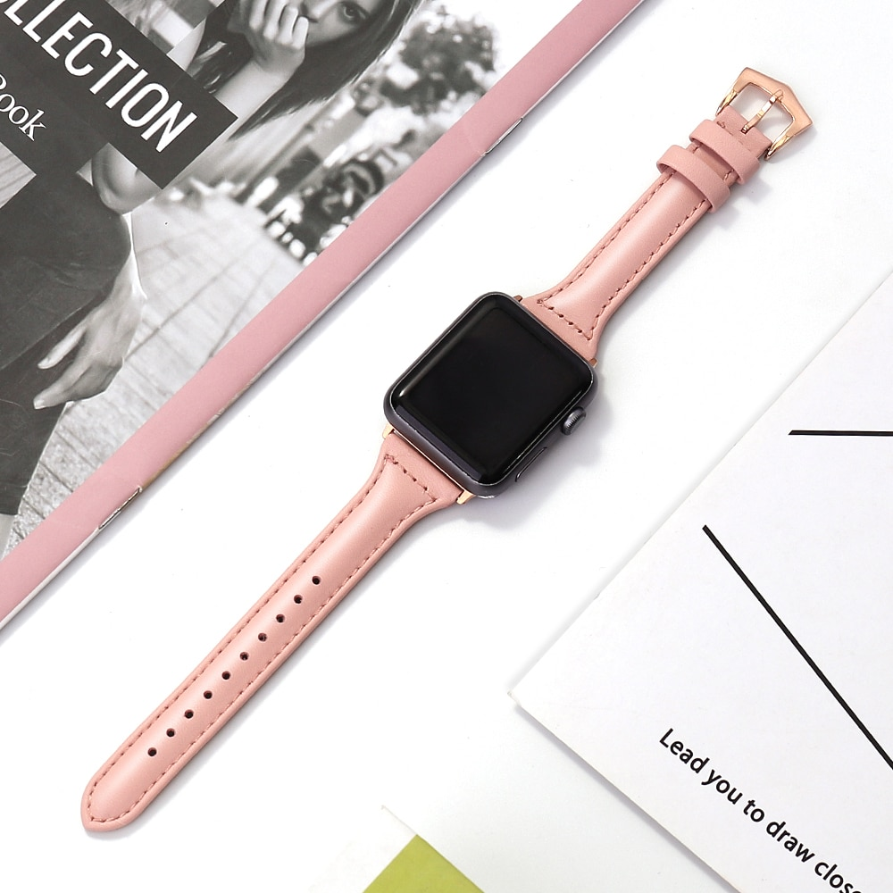 strap genuine leather bands for apple watch 38mm 42mm 40mm 44mm smart watches band for i watch series 5 4 3 2 1 women s bracelet Genuine Leather Watch Band for Apple Watch 6/5/4 40MM 44MM Sport Bracelet Strap for Apple Watch Series 3/2/1 38MM 42MM