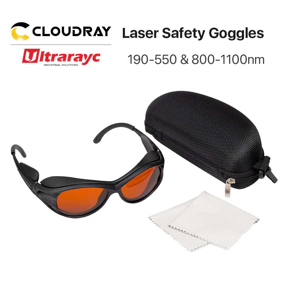 Ultrarayc الأشعة فوق البنفسجية والأخضر نظارات حماية الليزر حجم صغير نوع أ 190-550nm و 800-1100nm درع نظارات واقية نظارات حماية