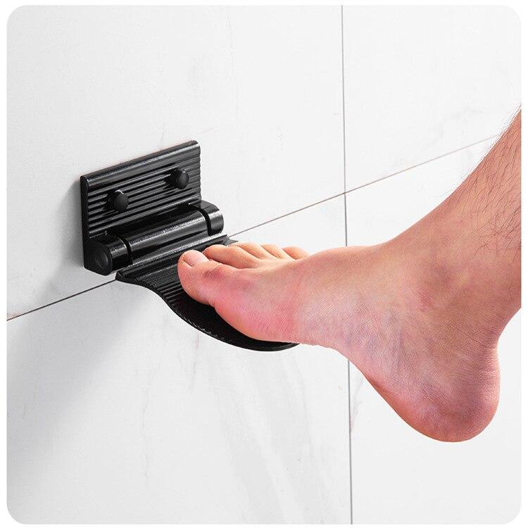 2021 مساحة الألومنيوم الحمام الحوامل دواسة غرفة الاستحمام المضادة للانزلاق سلامة القدم الراحة سلامة دواسة شماعات رف الحمام الملحقات