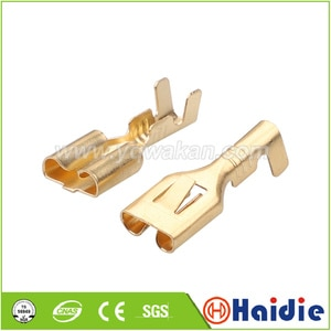 Free shipping 50pcs auto terminal for cable connector, crimp loose pins auto terminals DJ622T-6.3B