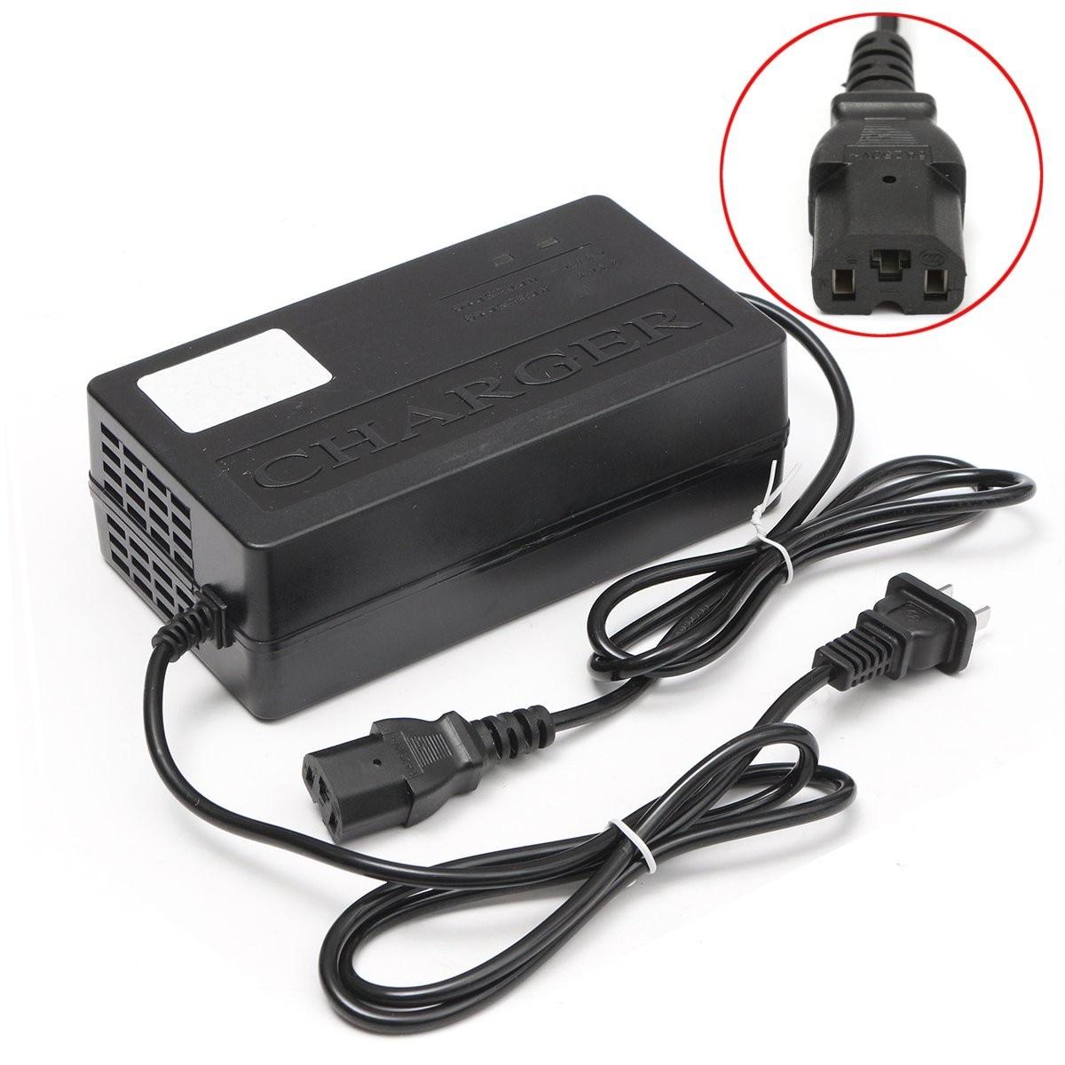 Adaptador de Batería de 60V y 2,5a de salida para patinete eléctrico, E-BIKE y cargador de batería, enchufe para PC