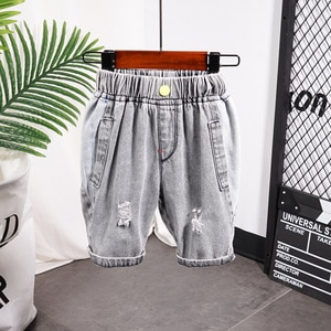 2020 Hot Sale Children Pants for baby boys summer trousers kids ripped jeans boy denim shorts 90~140