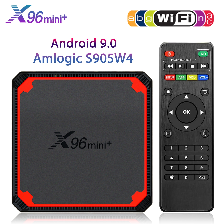 Funfuture Smart TV Box Android 9.0 4K 1G8G 2G16G Netflix 2.4G & 5G WIFI Set-Top Box X96MINI+ TV Media Player Amlogic S905W4