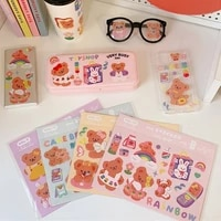 5 sheetspack hasahing cute cartoon mini diary stickers for kid diy scrapbook stationery phone laptop case anime decals sticker