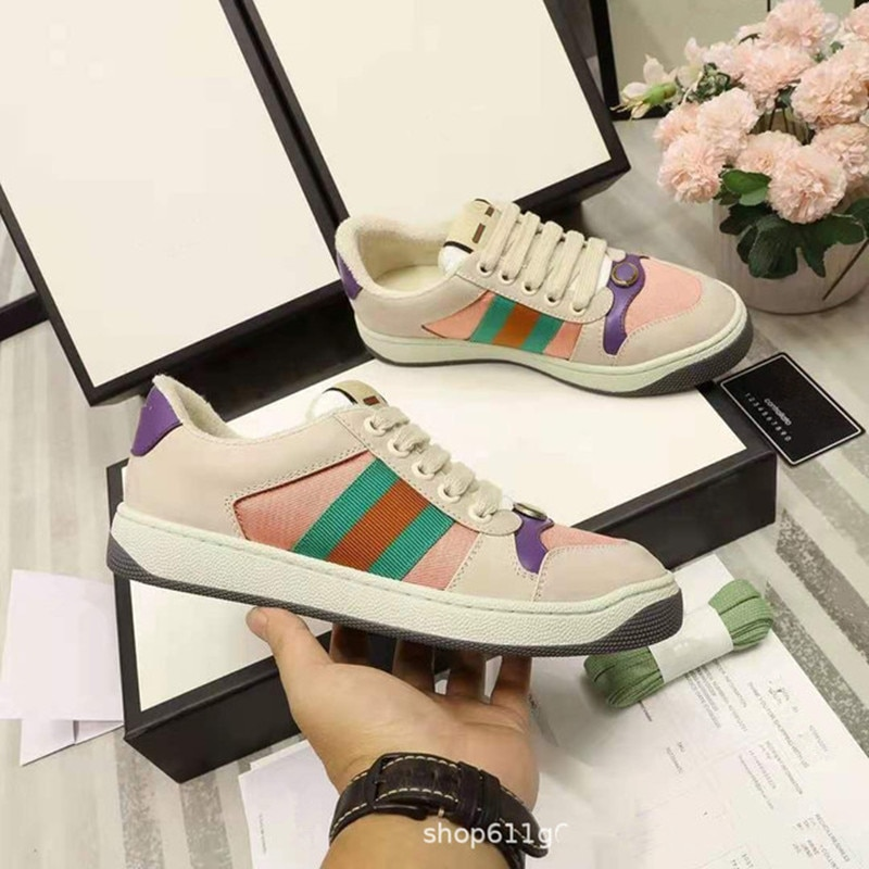 2021 new dirty dirty shoes retro flat bottom couple casual all-match sneakers white shoes