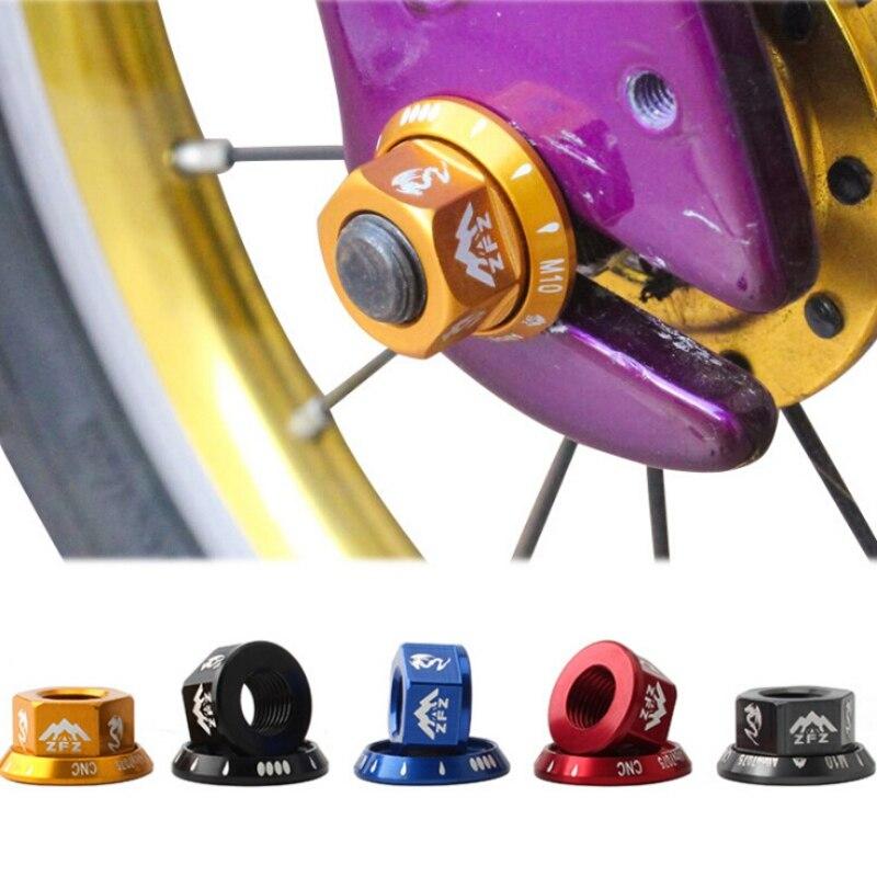 Tuerca de tambor flor M10 brida rueda delantera rueda trasera tapa de tornillo 7075 aleación de aluminio Bicicleta Infantil de equilibrio deslizante bicicleta