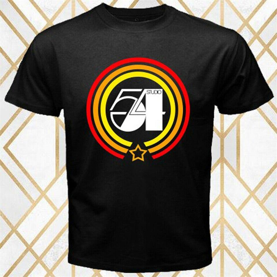 Camiseta negra con Logo de la casa de producción de Música Studio 54, camiseta Unisex de talla S-3XL para hombre y mujer