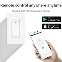 Interrupteur bouton Wifi US Tuya Smart Life APP  commande vocale mains libres  prise en charge pour Alexa Google Home