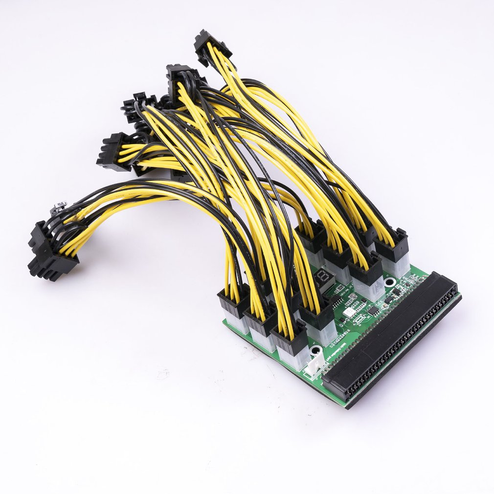 Power Module Board For PSU Server Power Conversion 6Pin To 8Pin Power Cable For BTC LED Three-color Light