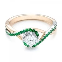 new fashion women rings green white crystal rings charms simple wedding engagement bands for women birthday gift jewelry