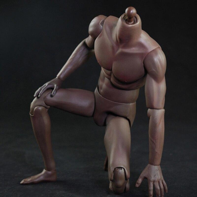 В наличии 1/6 масштаб мужской тело супер мышцы Спорт темная кожа стройная модель тела игрушка для фанатов подарки