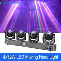 new 4 heads moving head light individual control 432w rgbw 4in1 led dmx dj stage disco light