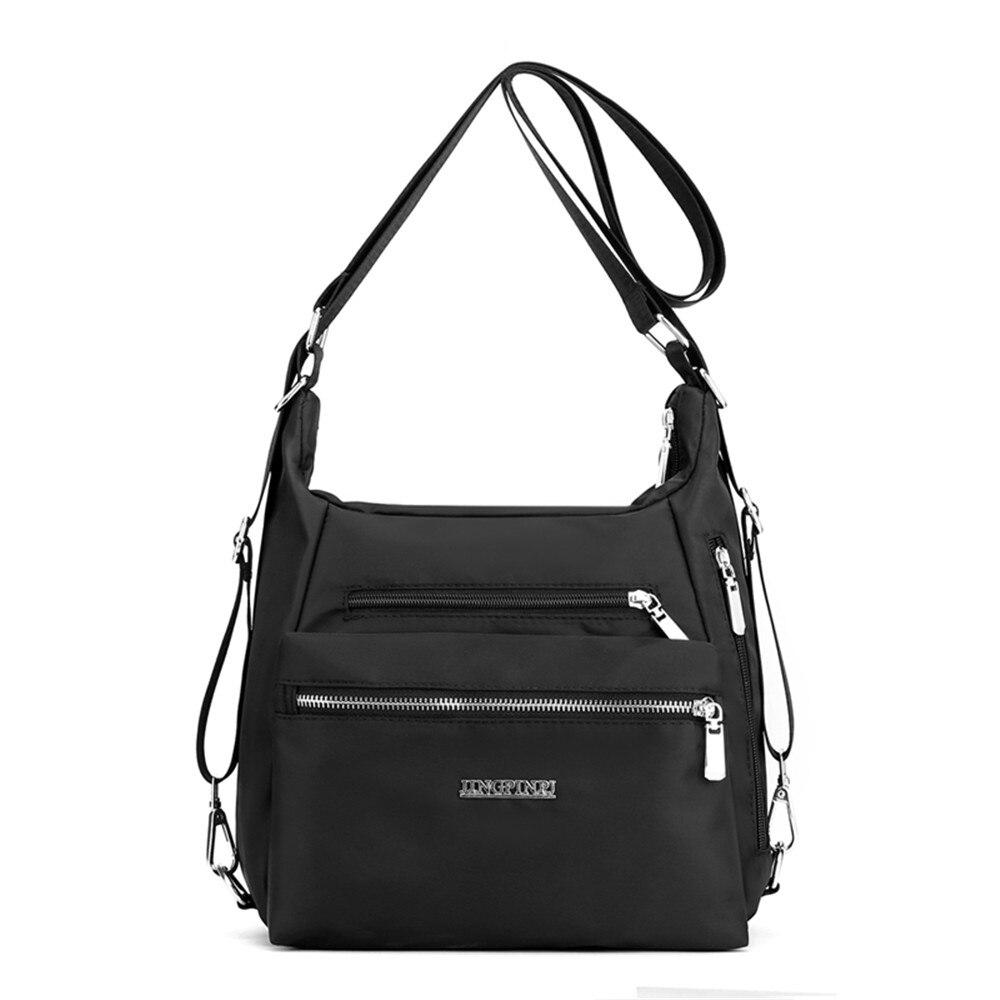 2020 moda mulher bolsa de ombro náilon à prova dmulti água multi-bolso mensageiro saco sólido zíper multifuncional bolsa de viagem bolsas