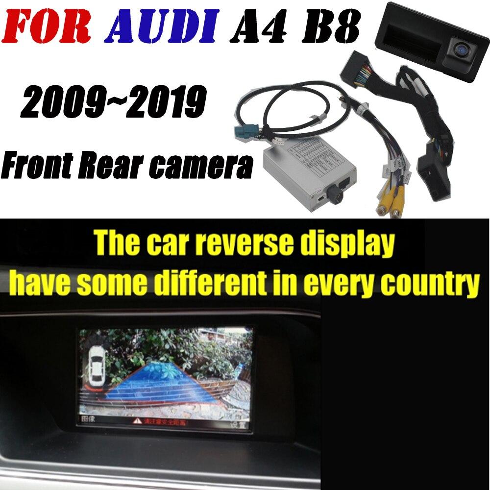 Cámara frontal y trasera para Audi MMI 2G/3G A4 B8 2009 ~ 2019 adaptador Original pantalla de actualización decodificador de cámara de respaldo